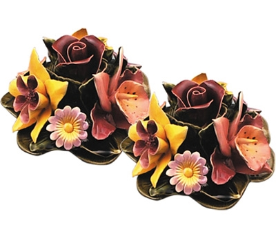 Ceramic 16cm Bunch Of Garden Flowers