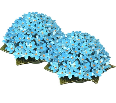 Ceramic 20cm Posy Of Forget-Me-Nots