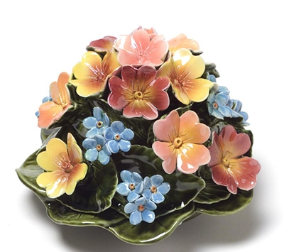 Ceramic 16cm Polyanthus And Forget-Me-Nots