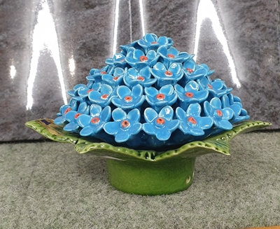 Ceramic 17cm Posy Of Forget-Me-Nots