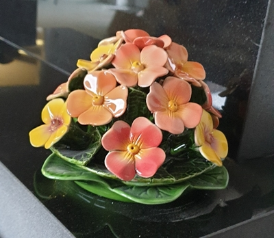Ceramic 16cm Posy Of Polyanthus